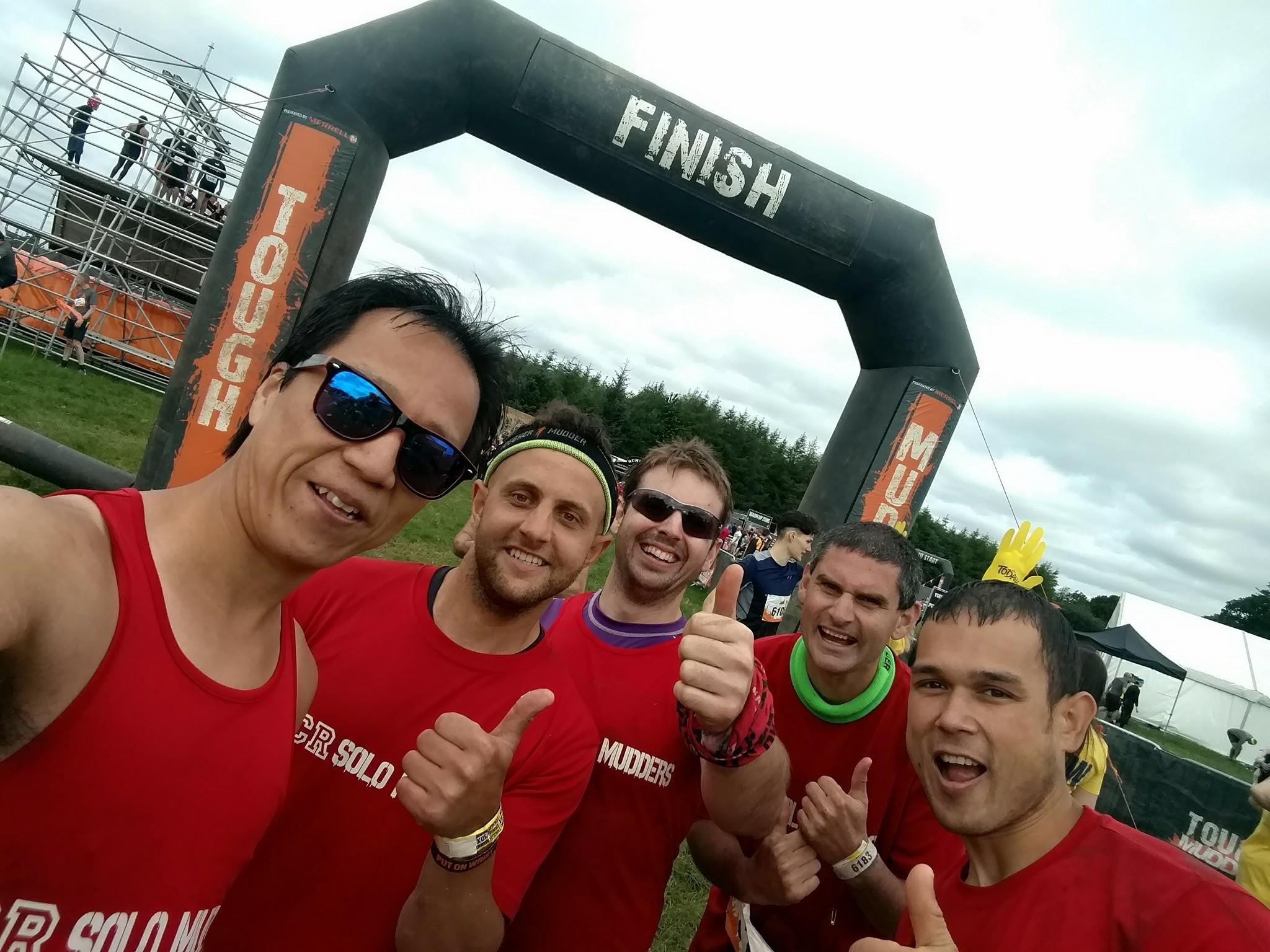 Tough Mudder Ireland 2017 Finish Line Selfie