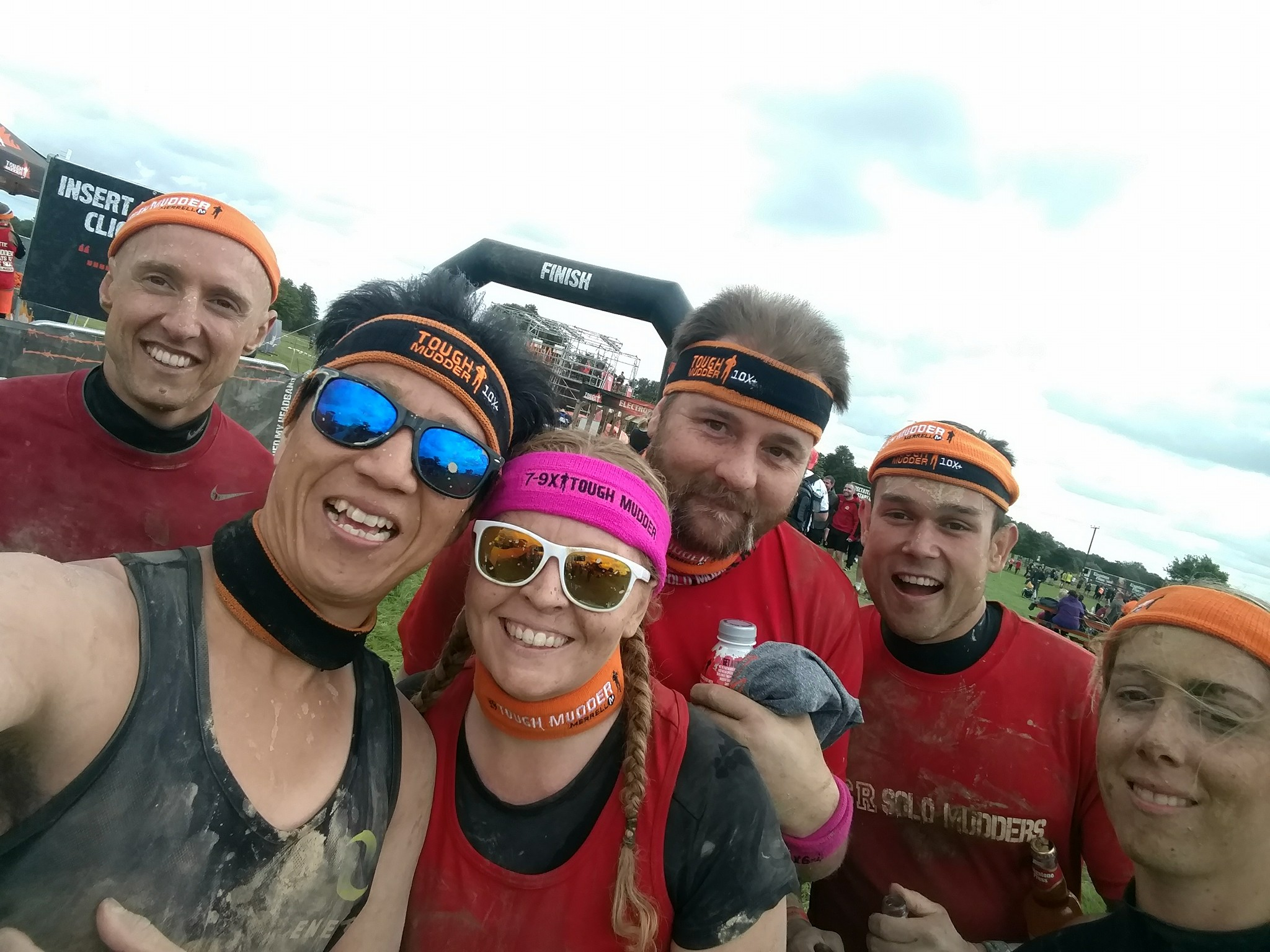 Tough Mudder South West Finish Line Selfie