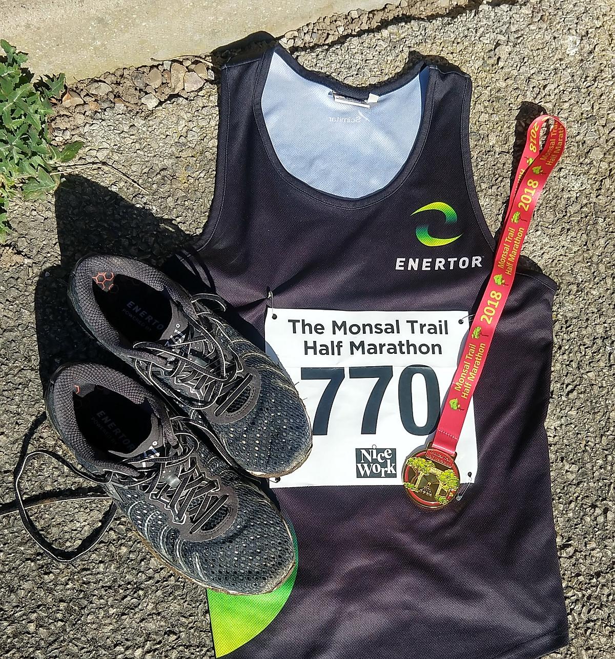 Monsal Trail Half Marathon flatlay
