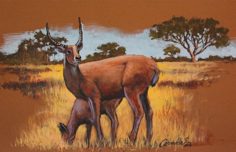 Mixed media exotic Deer