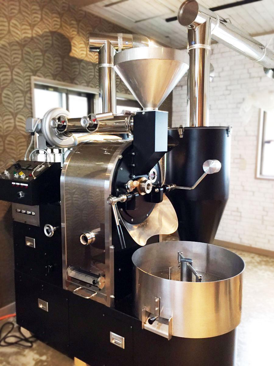 愛知県稲沢市にvasic焙煎機4,5kg釜を設置しました。