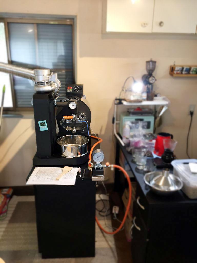静岡県東伊豆町にアポロ焙煎機を設置致しました。