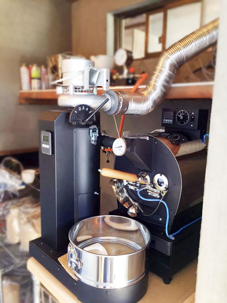 長野県小諸市にアポロ焙煎機を設置致しました。