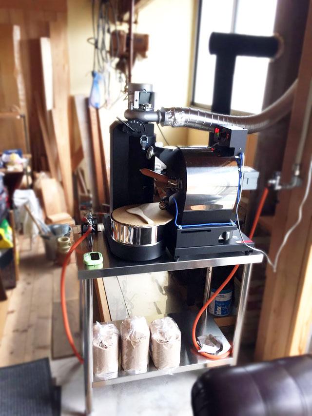 兵庫県洲本市にアポロ焙煎機を設置しました。