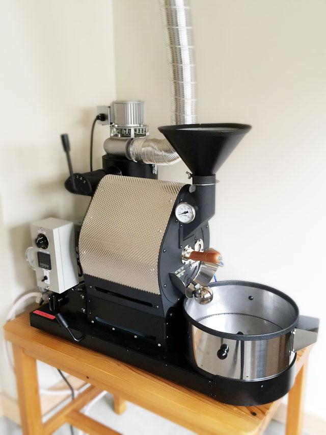 京都市左京区にナナハン焙煎機を設置しました。