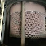 業務用焙煎機のシリンダーとシリンダーカバー