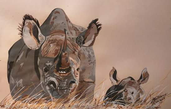 wildlife-art ameya-rashmin-kulkarni wildlife-painting