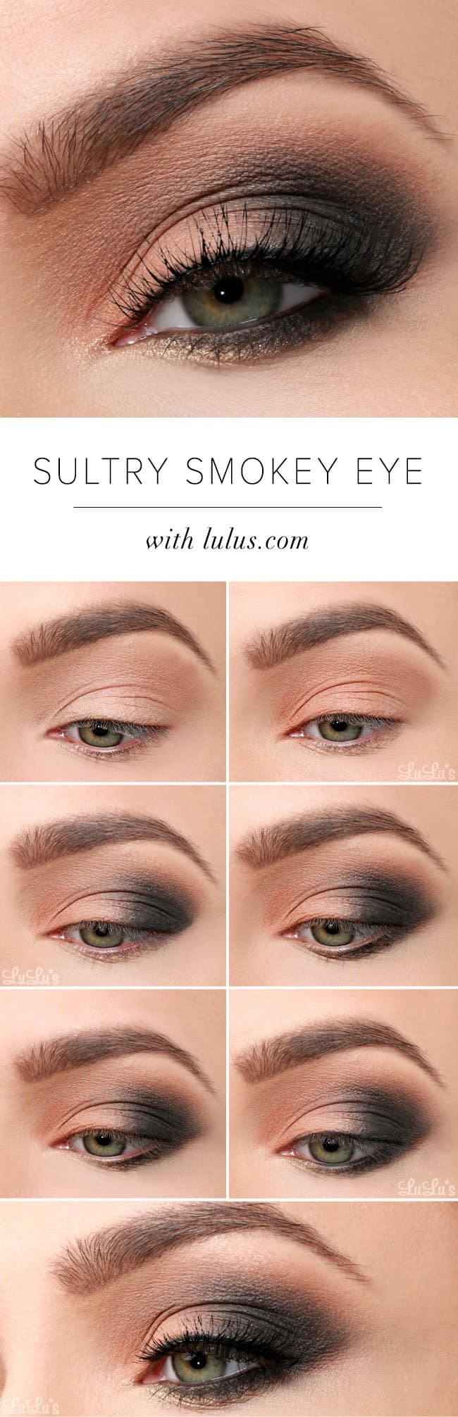 15 smokey eye tutorials - step by step guide to perfect