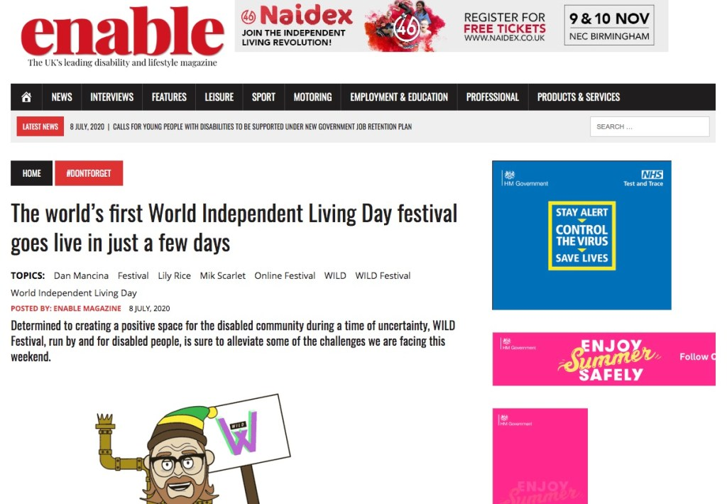 A screenshot of the article from enable magazine, you can click it to go to the article