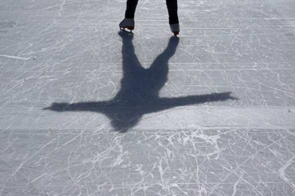 shadow of iceskater
