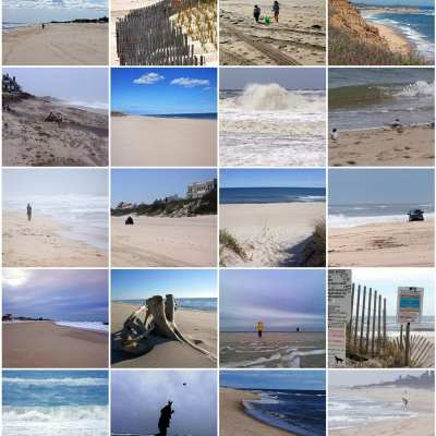Atlantic beaches in the Hamptons – 20 views off-season
