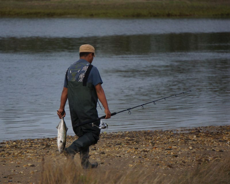 Fisherman catch Munn Point