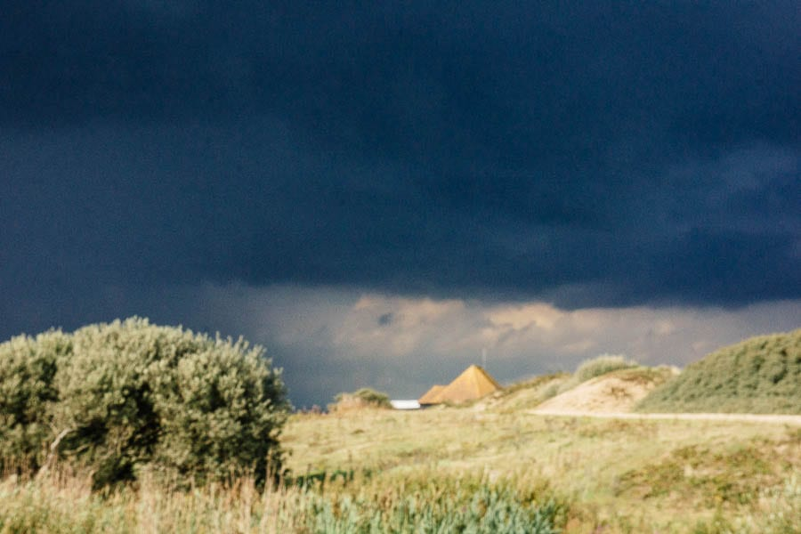 Storm clouds over RSPB Dungeness