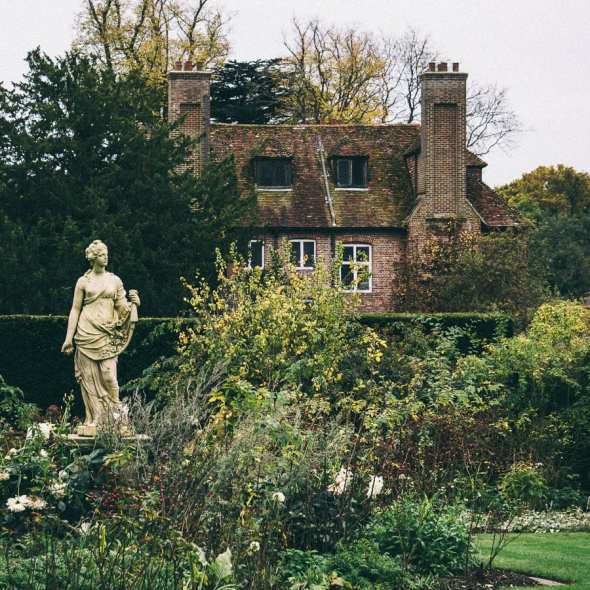 Groombridge Place Statue and House
