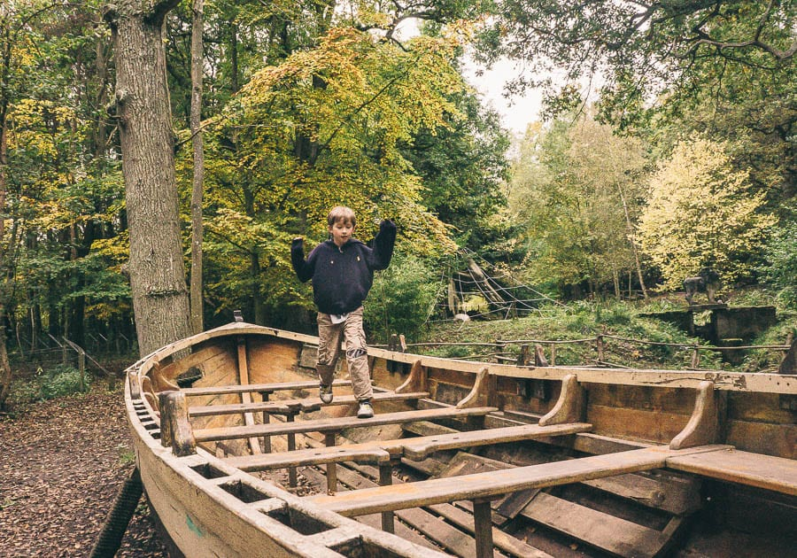 Groombridge Place playground boat