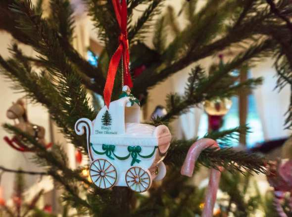 Christmas tree first christmas Wedgewood baby carriage
