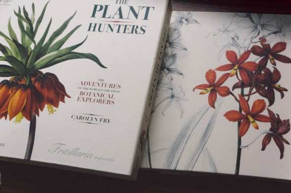 The Plant Hunters book and cover box