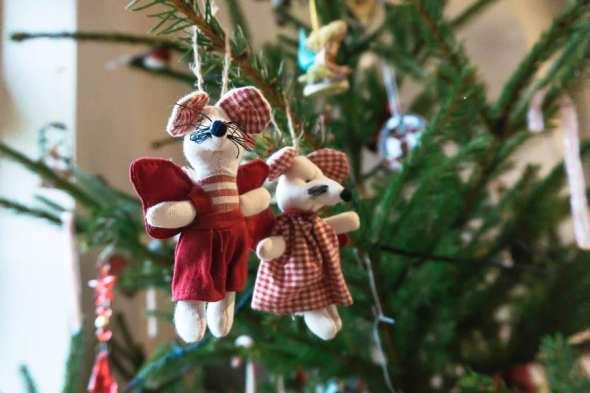Twin mice Christmas tree decor