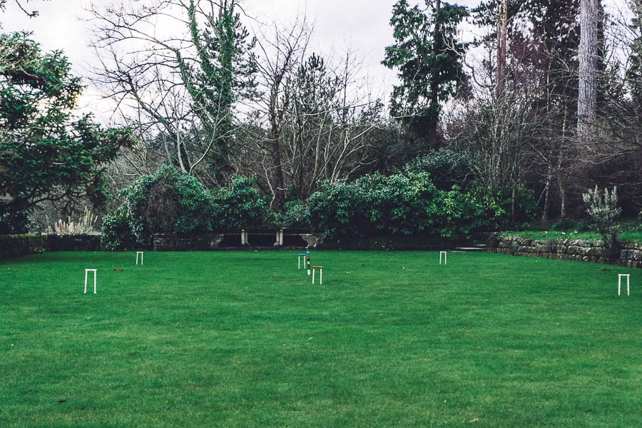Gravetye February croquet lawn