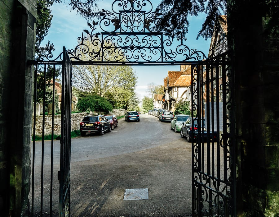 Chiddingstone Castle high street gate