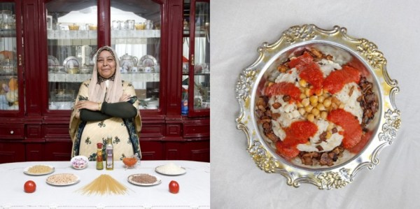 Cairo, Egypt: Kuoshry (pasta, rice and legumes pie) by Fifi Makhmer, 62 years old