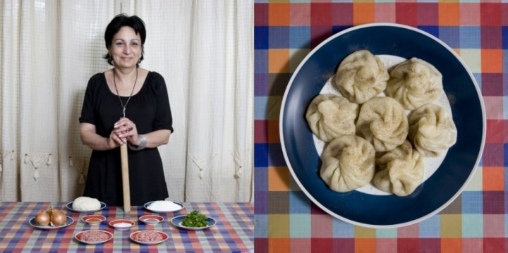 Tblisi, Georgia: Khinkali (pork and beef dumplings) by Natalie Bakradze, 60 years old