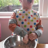 Baking bikkies with kids and Te Wiki O Te Reo Maori