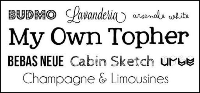2014-01-30 my fav fonts