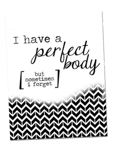 I Have a Perfect Body | Free Printable