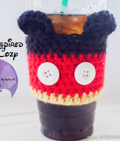 Mickey Mouse Coffee Cozy :: Free Crochet Pattern