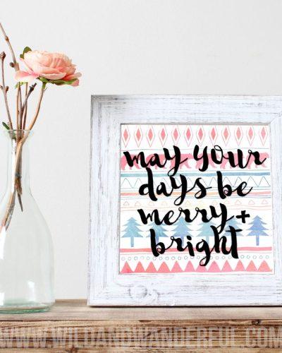 Merrry + Bright :: Free Printable