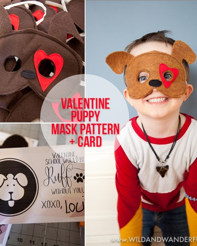 Valentine Puppy Mask + Card | Free Pattern!