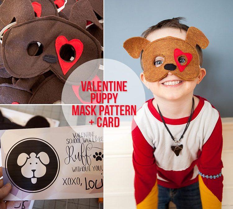 Valentine Puppy Mask + Card | Free Pattern!