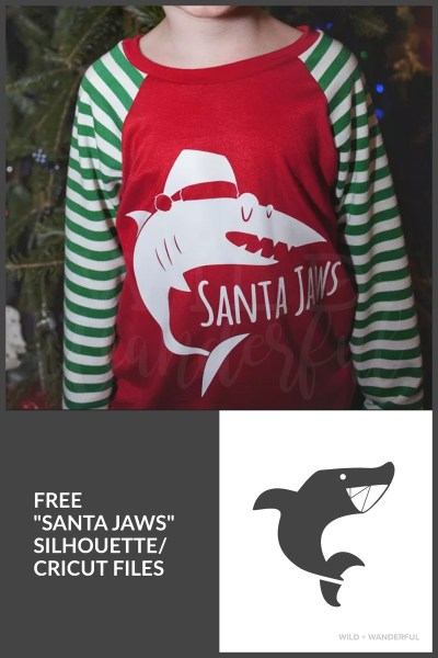 Santa Jaws :: Free SVG/PNG/Silhouette Download