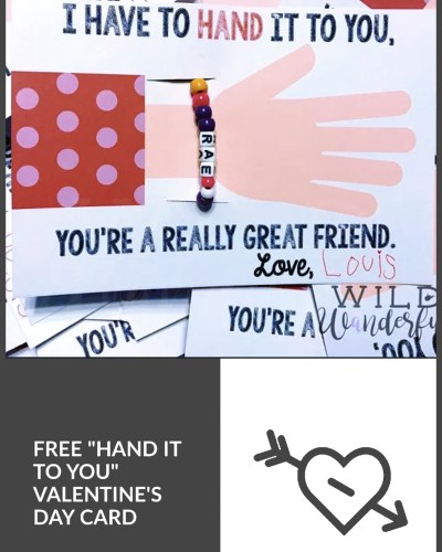 I Have to Hand It To You | Free Valentine's Day Card Printable!