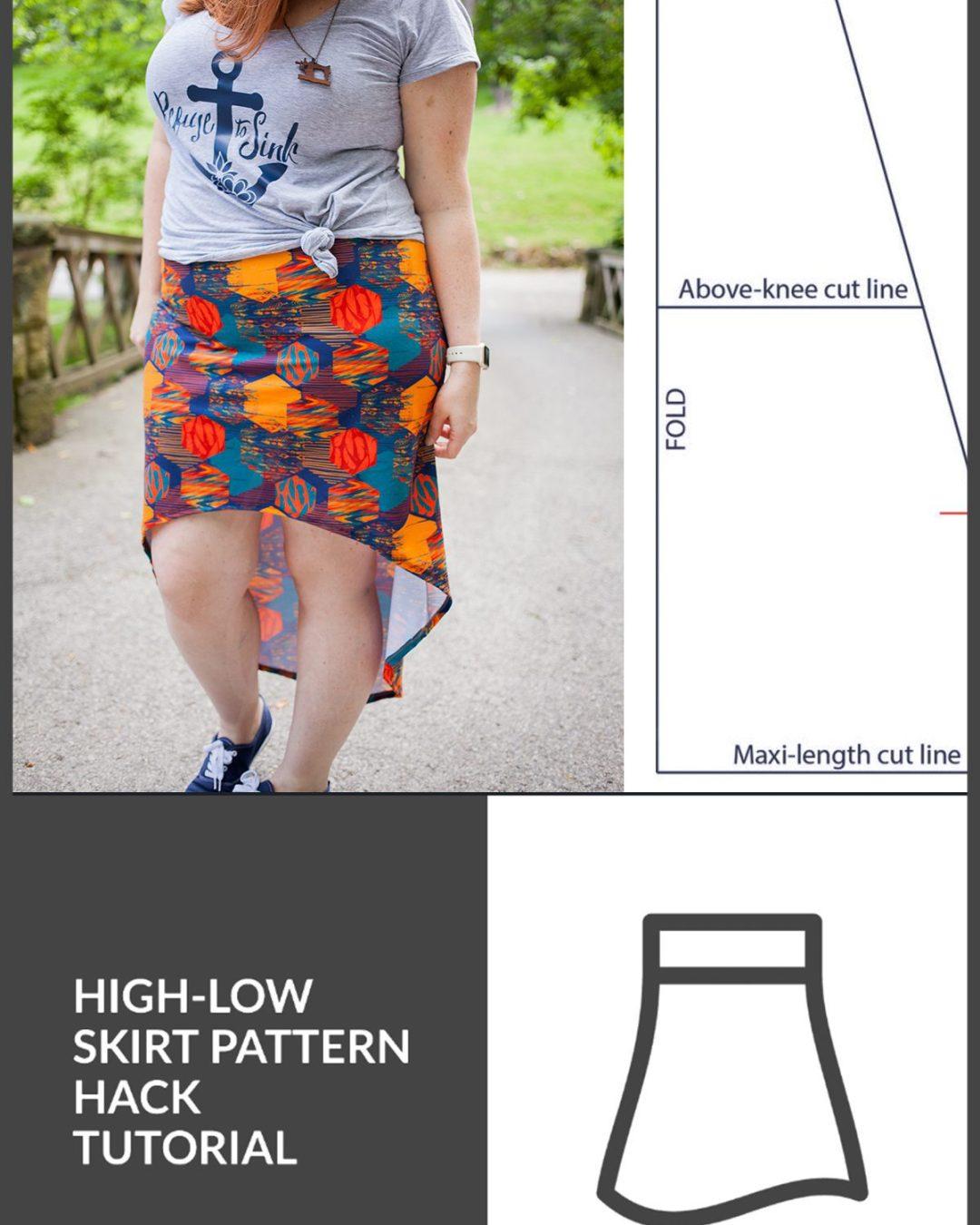 """Mama Chloe"" High-Low Skirt :: Pattern Hack Tutorial"