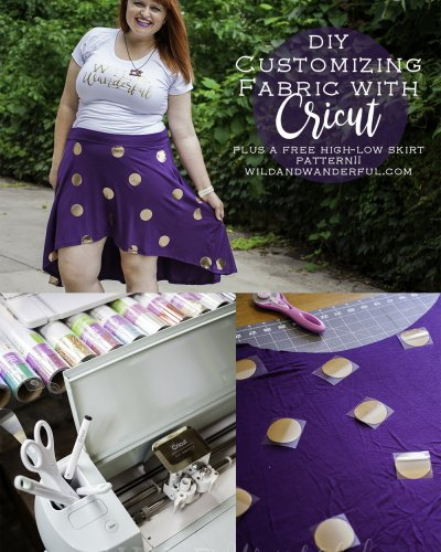 Customizing Fabric with Cricut (and a FREE skirt pattern!)