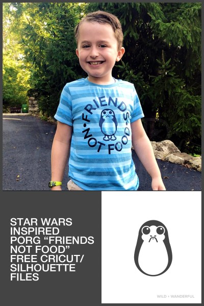 Friends, Not Food :: Free Star Wars Inspired Porg Cut Files