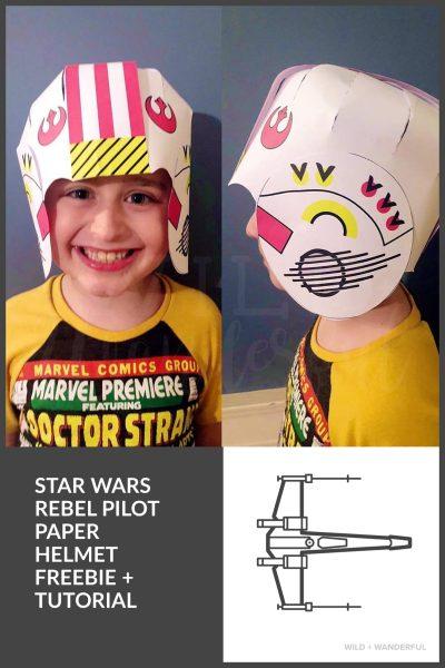 FREE Rebel Pilot Paper Helmet :: Star Wars Birthday Party