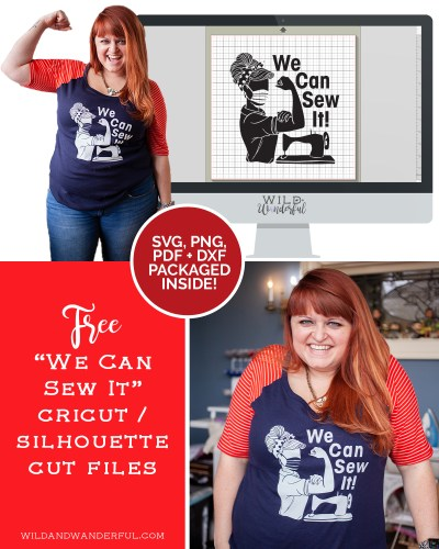 We Can Sew It! :: FREE Silhouette + Cricut Cut Files!