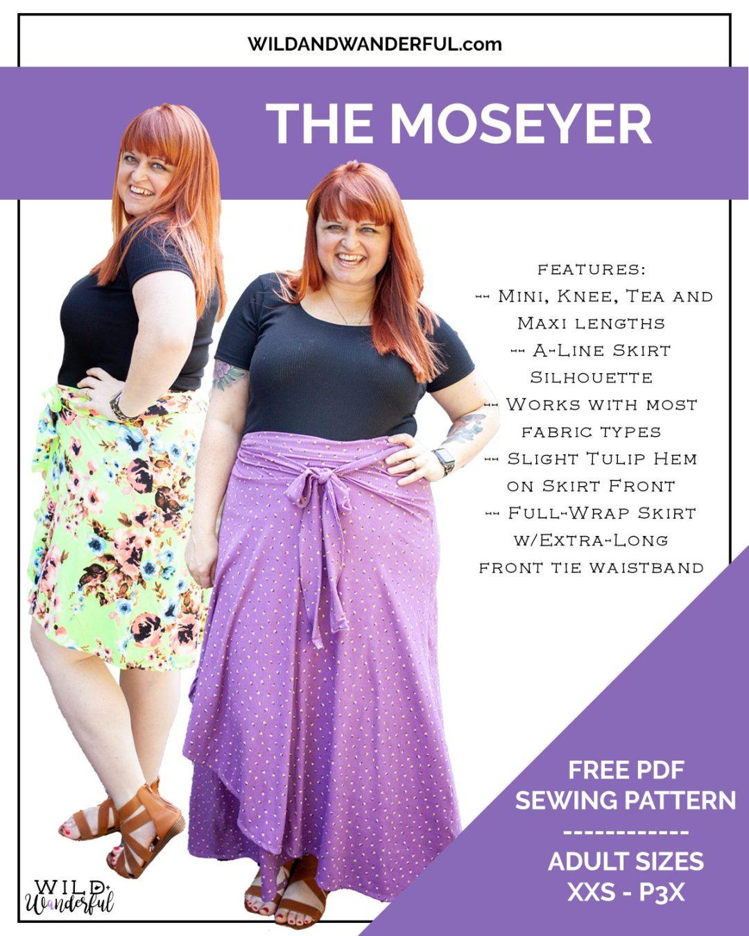 The Moseyer Skirt | A New FREEBIE Wrap Skirt Pattern, by Wild + Wanderful!