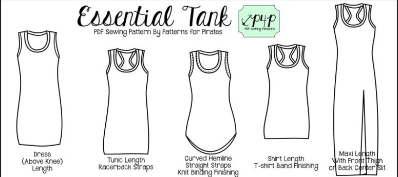 The Essential Tank by Patterns for Pirates