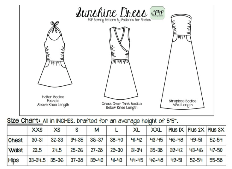 Sunshine Dress by Patterns for Pirates