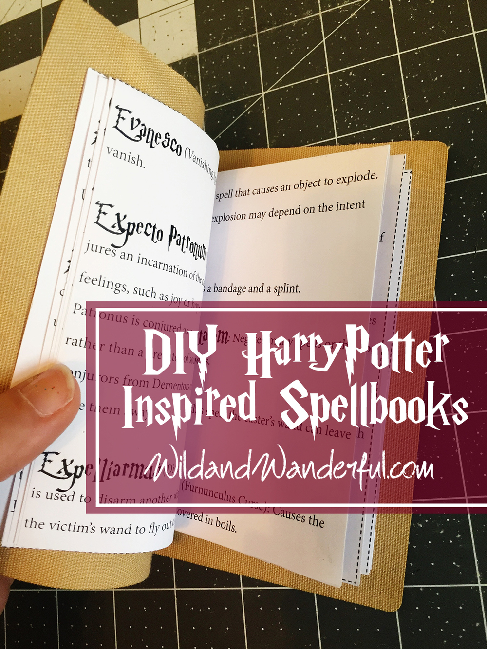 photo relating to Harry Potter Printable Book Covers titled Do it yourself Harry Potter Spellbook + Printable