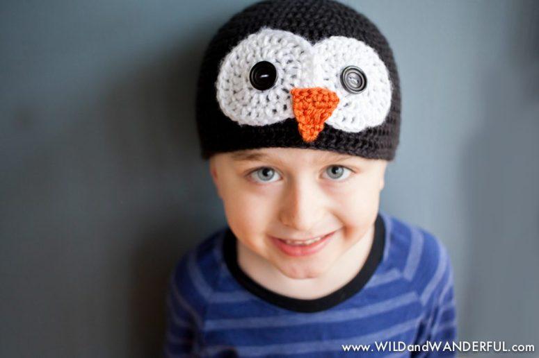 Penguin Hat Free Crochet Pattern All Sizes Wildwanderful