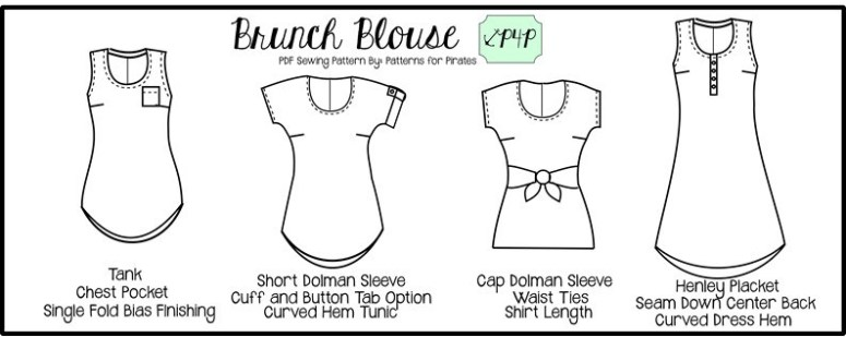 Brunch Blouse By Patterns For Pirates Wildwanderful