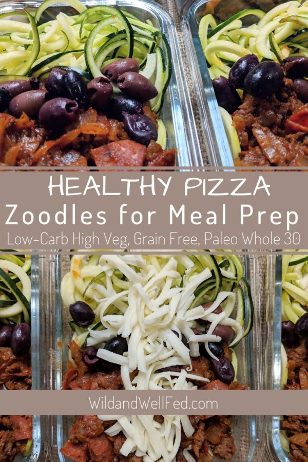 Healthy Pizza Zoodles