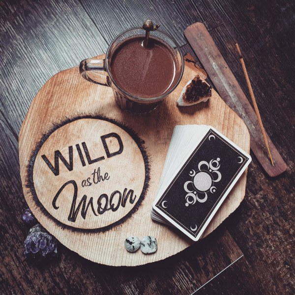 Wild as the Moon ceremonial chocolate and tarot cards