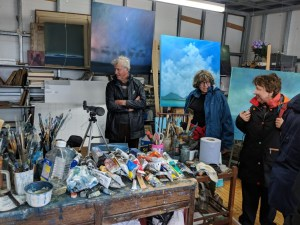 Visiting artist Willie Fulton's studio