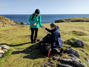 Plein air painting at Butt of Lewis, Lewis & Harris, Outer Hebrides